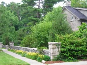 stone wall at Williamsville Garden Walk