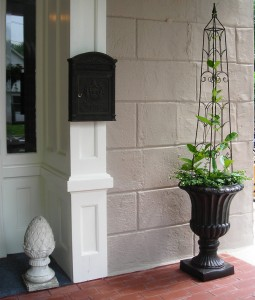 porch planter at Lewiston Garden Fest