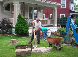 16 N Parade Buffalo work begins on front yard competition