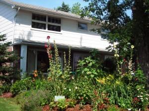 Amherst front yard garden