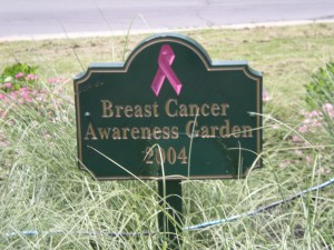 cancer sign in garden at Buffalo train terminal