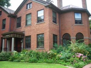 front garden on West Ferry in Buffalo