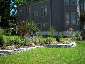 garden in side lot 36 N Parade Buffalo