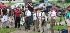 reporters at Front Yard Competition Buffalo