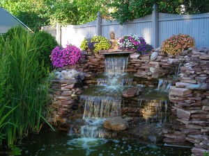 Eggertsville open garden waterfall
