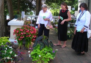 visitors at East Aurora Garden Club flower show