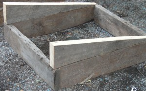 slanted pieces for cold frame for garden in WNY