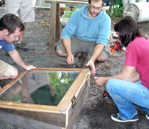adding hinges to cold frame for garden in WNY