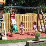 swing set in large Buffalo yard