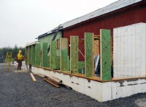 barn straw bale construction in Niagara County