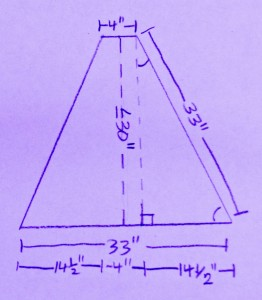 Diagram for A-frame to hold plant light