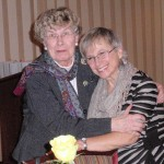 Bev Walsh and Joan Sutton of Orchard Park Garden Club