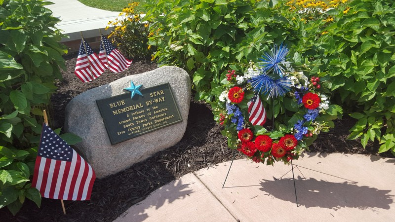 Blue Star Memorial By-Way marker from South Towns Gardeners