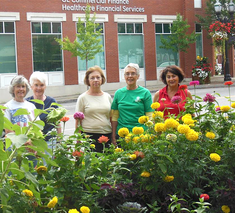 The Deadhead Crew of the Orchard Park Garden Club maintain the flowers in the Village of Orchard Park, deadheading the plants to help keep the village beautiful. They are Wendy Zebehazy, Sandy Offhaus, Barb Donsky, Mary Ann Schubert and Anna DeSantis. Photo courtesy Orchard Park Garden Club