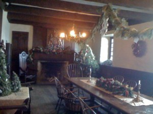 Johnson Room dining hall decorated by Youngstown NY Garden Club
