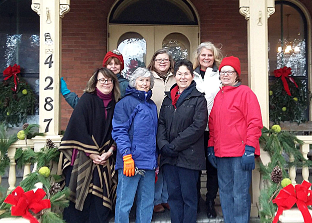 Orchard Park Garden Club decorating Jolls House