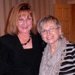 Marcia Becker and Joan Sutton of Orchard Park Garden Club