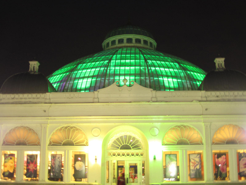 Even the outside of the Buffalo and Erie County Botanical Gardens looked beautiful during Night Lights. Photo by Tracy A. Marciano. Posted March 9, 2014