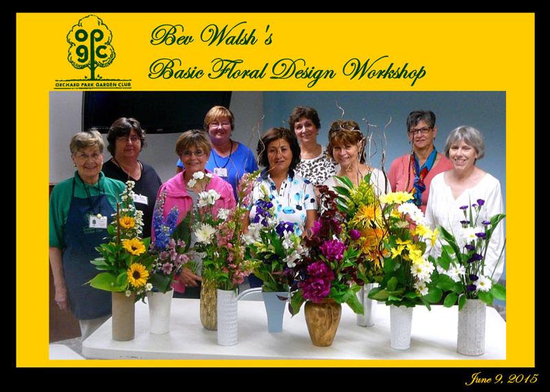 Orchard Park NY Garden Club floral design class