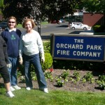 Orchard Park NY Garden Club planting at firehall