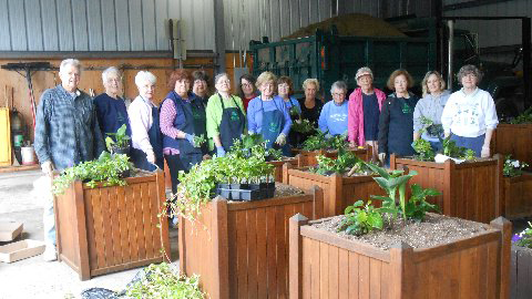 Orchard Park NY Garden Club planting boxes