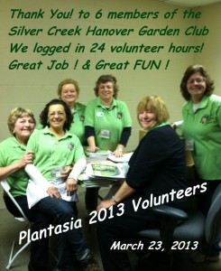 Plantasia Volunteers 2013