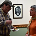 Sharon Webber talks with Gary Barnes of Buffalo