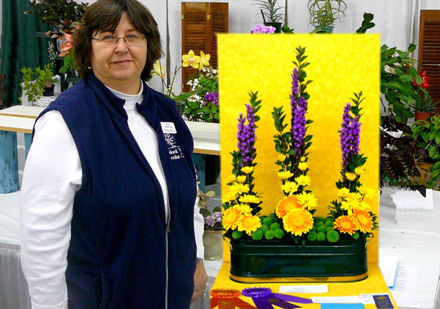 flower show winner from Orchard Park Garden Club