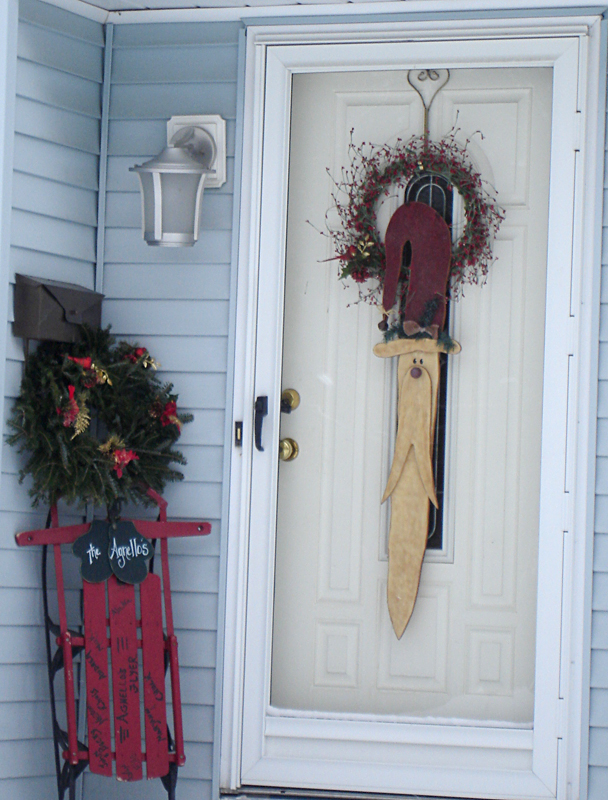 Third place in holiday door decorating in Orchard Park NY