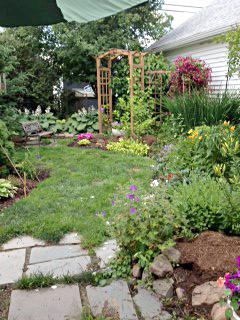 Trudy Stern backyard in Western New York