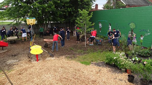building garden at Hope House in Buffalo NY