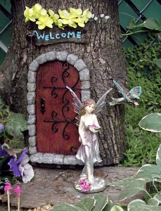 fairy garden on Riverside Garden Walk in Buffalo NY