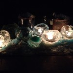 lighted ice spheres from Garda O'Keefe in Youngstown NY