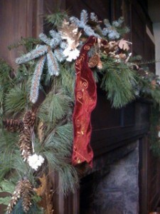 mantle detail by Youngstown NY Garden Club