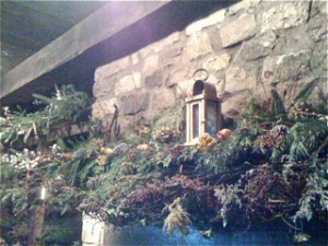 mantle in the boulangerie by Youngstown NY Garden Club