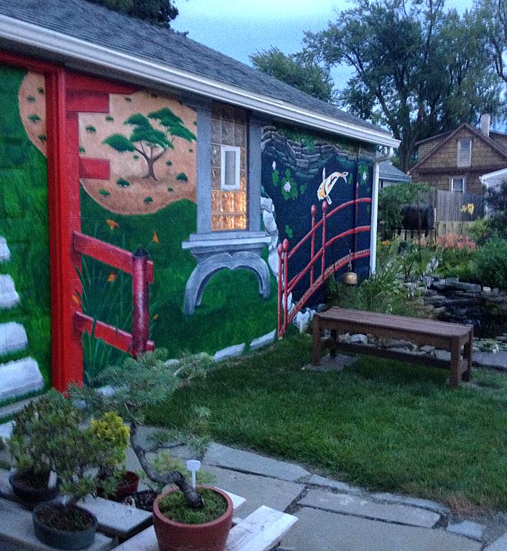 mural in Mary O'Connor yard in Buffalo NY