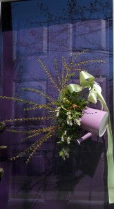 watering can on door in Clarence NY