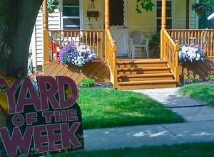 yard of the week in Youngstown, NY