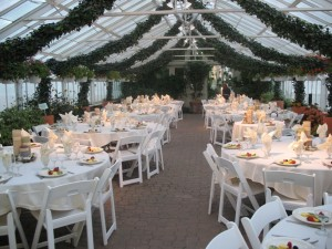 dining area at Buffalo and Erie County Botanical Gardens
