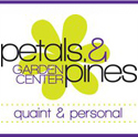 Petals & Pines logo with lines