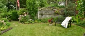 side yard in Lewiston NY