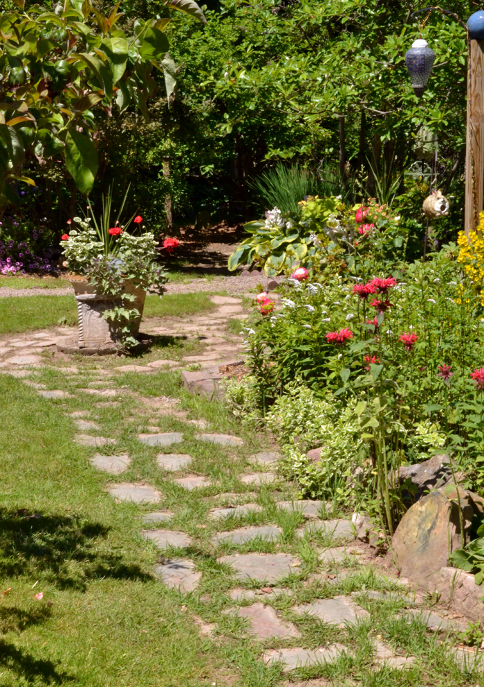 path on Orleans County garden tour