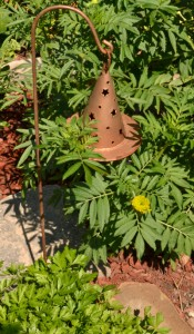 witch's hat in garden in Niagara Falls NY