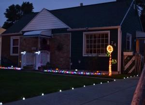 house on nighttime garden walk in Buffalo NY