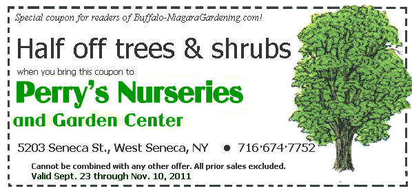 Special coupon from Perry's Nurseries in West Seneca