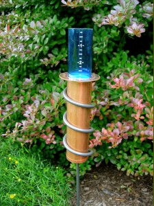 coolest rain gauge at Heimiller's