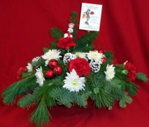ELF centerpiece at Elaine's Flower Shoppe