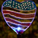 patriotic heart light for garden in Buffalo NY