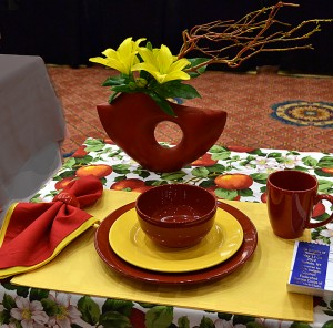 table setting at National Garden Club convention Buffalo NY