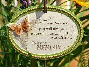 sign for memory garden in Williamsville NY